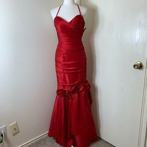 Angie Boutique Red Formal Dress W Roses